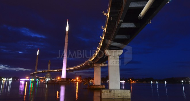 Jembatan Gentala Arasy. Foto : M Ridwan / Jambi Ekspres