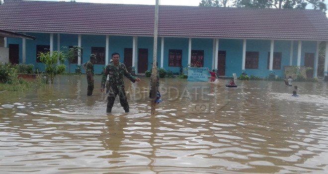 Banjir yang terjadi di sarolangun beberapa waktu lalu. Foto : Dok Jambiupdate