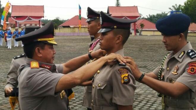 Kapolda Jambi, Irjen Pol Muchlis AS, saat Pelantikan Siswa Diktuk Bintara Polri tahun anggaran 2018/2019.
