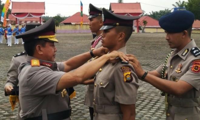 Kapolda Jambi Tutup Diktuk Bintara Polri Angkatan XVII. Foton: Ist