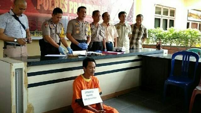 Kapores Prabumulih, AKBP Tito Hutauruk saat memberikan keterangan pers. (Alwi Alim/JawaPos.com)