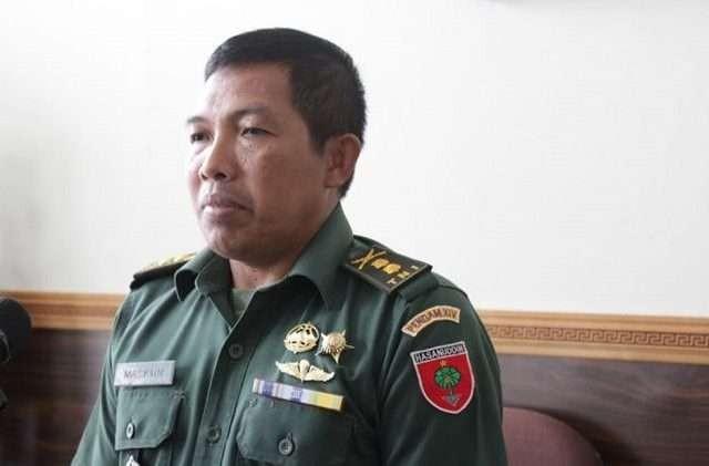 Kapendam XIV/Hasanuddin Letkol Infanteri Maskun Nafik, Jumat (8/3). Foto : Ist