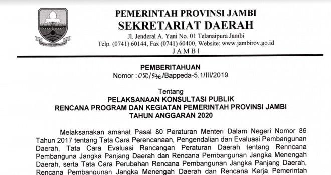 Surat Pemberitahuan. Foto : Screanshot Jambiupdate
