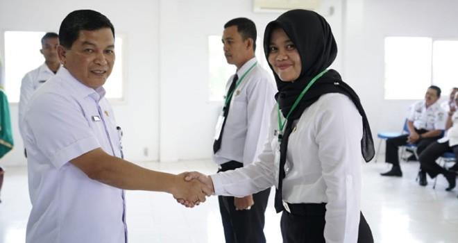 Sekda Kota Jambi membuka Diklat Pim di Gedung Balai Diklat (13/3). Foto : Ist
