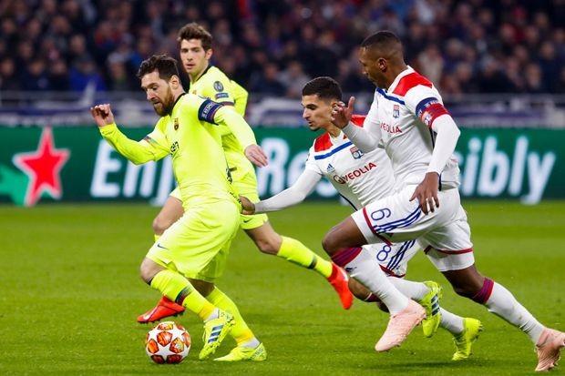Pada leg pertama, Barcelona imbang 0-0 melawan Olympique Lyon (Dok. UEFA)
