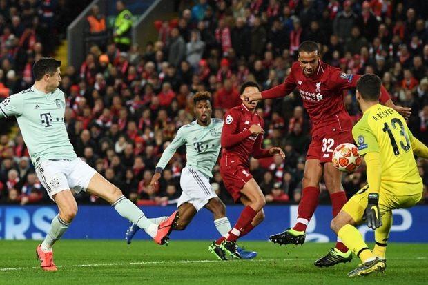 Pada leg pertama, Liverpool imbang 0-0 dengan Bayern Muenchen (Dok. UEFA)