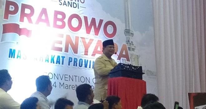 Capres Prabowo Subianto. Foto : Safwan / Jambiupdate