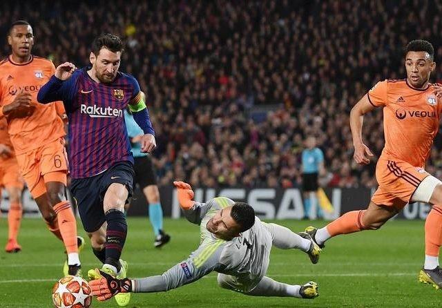Lionel Messi menjadi bintang kemenangan Barcelona atas Lyon (Worldfootball)