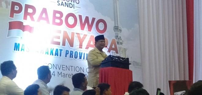 Pidato Capres Prabowo Subianto. Foto : Safwan / Jambiupdate