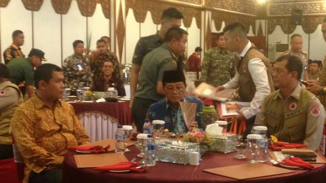 Rapat Kordinasi penanggulangan bencana daerah se-Provinsi Jambi Sabtu (16/3/19)