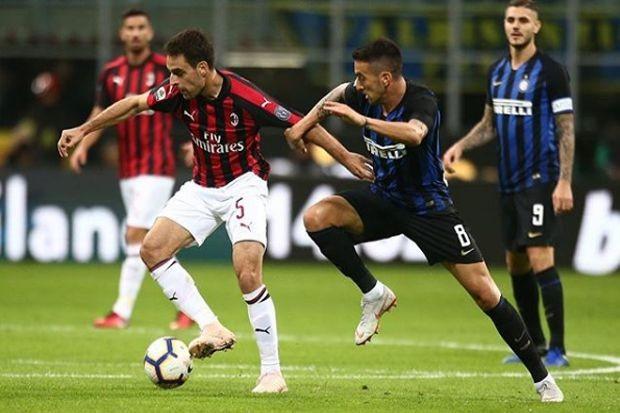 Derby della Madoninna akan digelar di Stadion San Siro, Senin (18/3) dini hari WIB (Twitter @ACMilan)