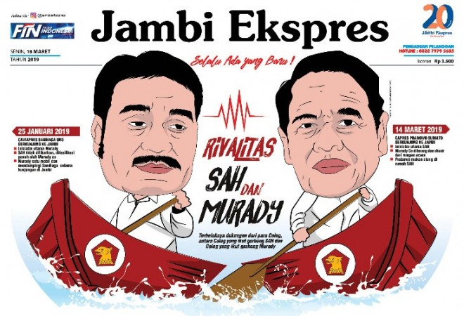 Headline di Jambi Ekspres edisi 18 Maret 2019.