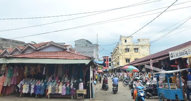 Pasar Malioboro sedang ditangani Polresta Jambi. Namun penguasaan aset pasar sudah diambil oleh Pemkot Jambi. Foto : Dok Jambiupdate