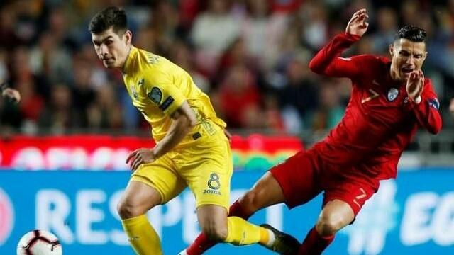 Ronaldo gagal membawa Portugal meraih kemenangan saat menjamu Ukraina, Sabtu (23/3) dini hari WIB (Unian)