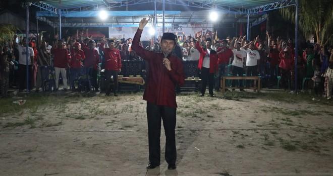 Hari Pertama Kampanye Akbar, Edi Purwanto Temui Pendukung Jokowi-Maruf di Perbatasan Jambi-Riau. Foto : Ist