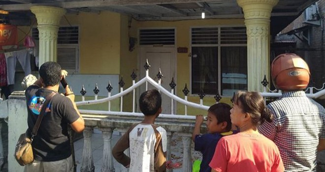 Suasana rumah para korban pembacokan yang dilakoni oleh Alul. Foto : Prayugo Utomo/ JawaPos.com