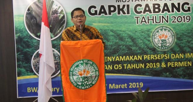 Ketua GAPKI Cabang Jambi Tidar M. Bagaskara. Foto : Ist
