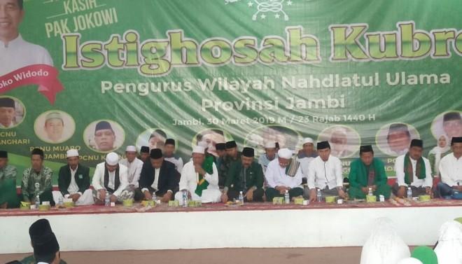 Ketua PDIP  Edi Purwanto Hadiri Istighosah Kubro Pengurus Wilayah NU Provinsi Jambi. Foto : Ist