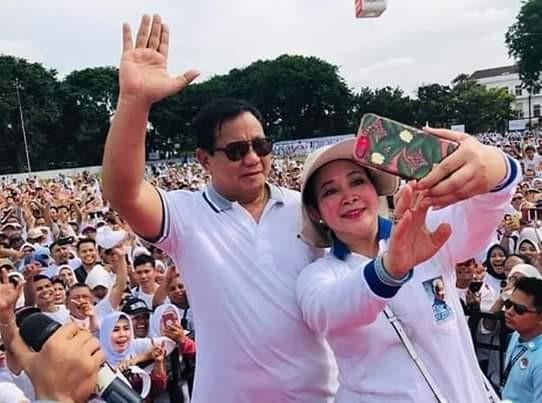 Prabowo Subianto dan Titik Suharto. Foto : Ist