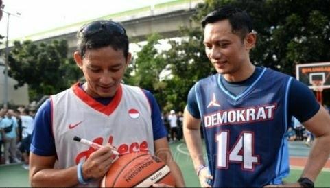 Sandiaga Uno dan Agus Harimukti. Foto : Ricardo / JPNN