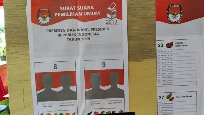 Simulasi Pemungutan dan Penghitungan suara di TPS 02 Desa Sungai Ulak, Kecamatan Nalo Tantan.