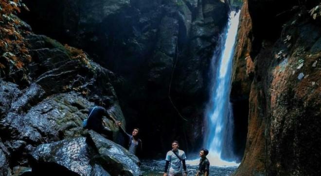 Air terjun Pendung Semurup. FOTO: GUSNADI