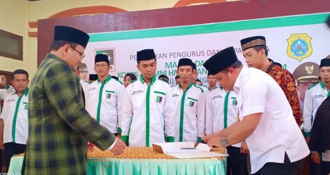 Bupati dan Wabup Hadiri Pelantikan MD KAHMI Tanjabtim. Foto : Ist