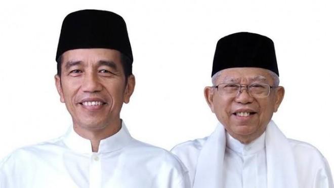 Pasangan calon presiden dan wakil presiden nomor urut 01 Joko Widodo-Maruf Amin.