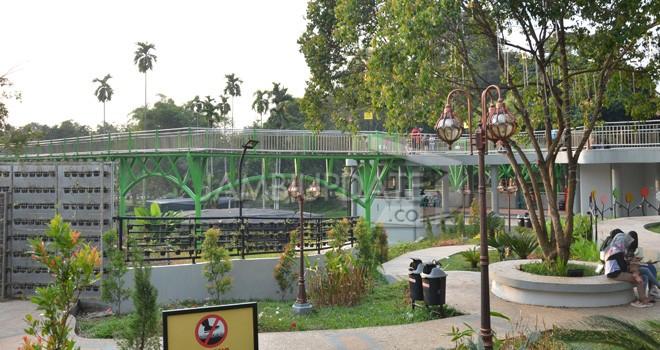 Taman Anggrek yang berlokasi di Telanaipura, Kota Jambi.