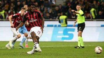 Franck Kessie jadi pahlawan kemenangan AC Milan saat menjamu Lazio/EPA