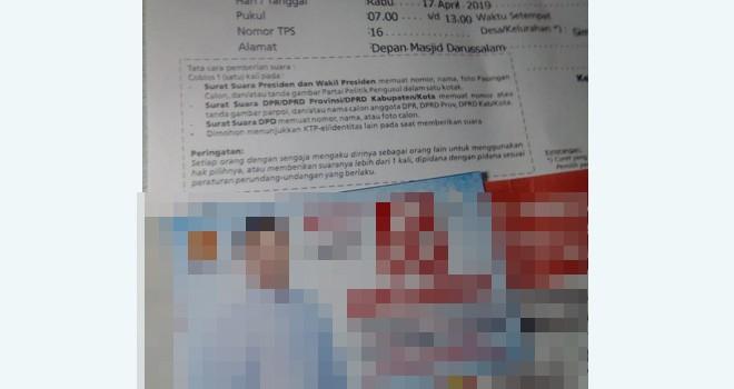 Oknum Ketua RT di Kota Jambi Diduga Kampanyekan Caleg. Foto : Ist