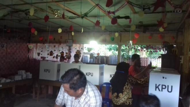 TPS 04 Sarkam Masih Kekurangan Kertas Suara. Foto : Ist