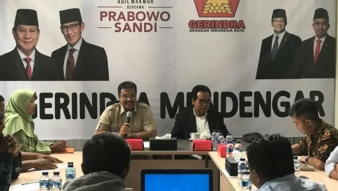 Tabulasi internal suara pileg dan pilpres 2019 di DPD Partai Gerindra Provinsi Jambi (18/4).