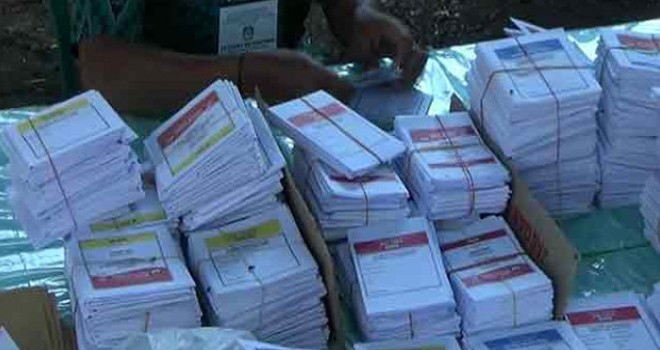 Surat suara Pemilu 2019. Foto : JPG