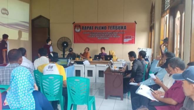 Rapat Pleno Rekapitulasi. Foto : Ist