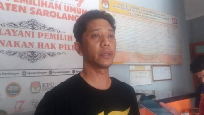 Ketua KPUD Sarolangun, Muhammad Fakhir.
