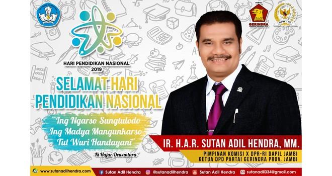 Pimpinan Komisi X DPR RI Sutan Adil Hendra (SAH).