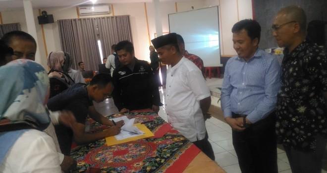Rapat Pleno terbuka rekapitulasi hasil penghitungan suara pemilihan umum Tahun 2019, tingkat KPU Kota Sungai Penuh. Foto : Gusnadi / Jambiupdate