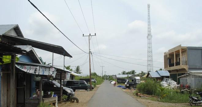 Tower BTS Telkomsel di Teluk Majelis. Foto : Ist