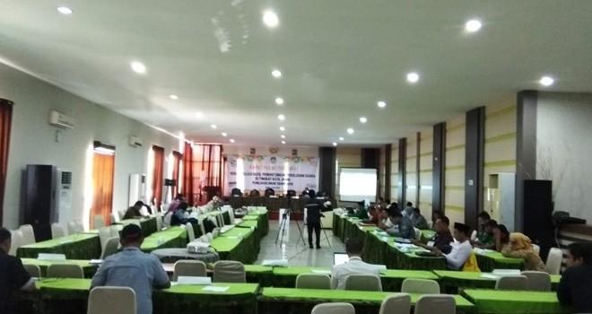 Pleno KPU Kota Jambi.