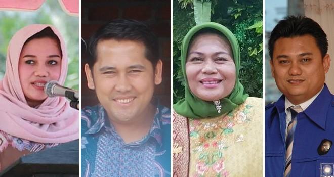 Ria Mayang Sari, M Syukur, Elviana dan Sum Indra. Foto : Kolase Jambiupdate