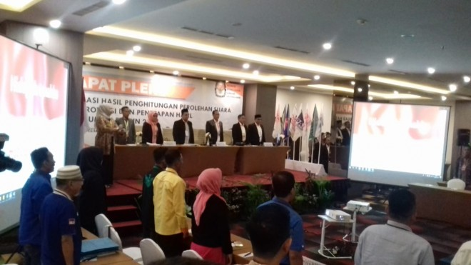 Pleno Rekapitulasi KPU Provinsi Jambi.