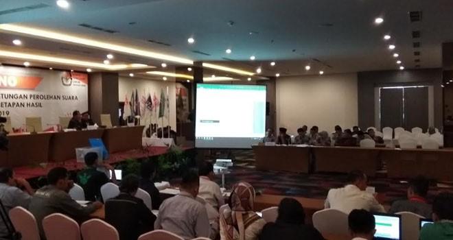 Perolehan Suara Kemuning Masih Ditampilkan di Pleno Rekapitulasi Tingkat Provinsi.