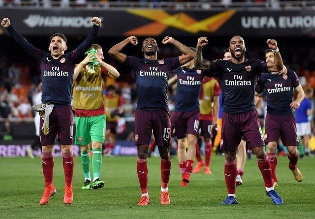Arsenal melaju ke final setelah kembali menang atas Valencia di Mestalla, Jumat (10/5) dini hari WIB (Uefa.com)