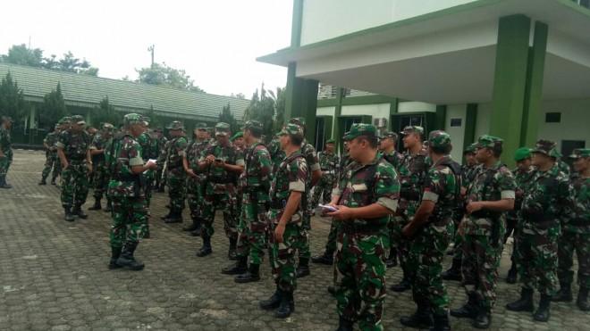 Segenap prajurit Korem 042 Garuda putih melakukan apel siaga mengantisipasi perkembangan situasi (Bangsit) sebelum, selama & setelah penetapan hasil Pileg & Pilpres tahun 2019.