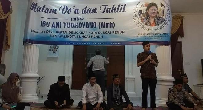 Wako AJB Bersama DPC Demokrat Gelar Tahlil Dan Doa Bagi Ibu Ani Yudhoyono.