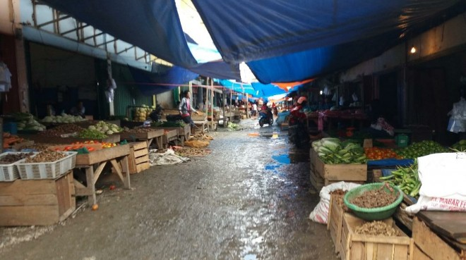 Kondisi Pasar Bungur di Bungo, pasca Hari Raya Idul Fitri. Foto : Gusnadi / Jambiupdate
