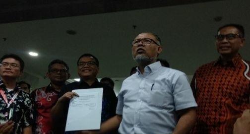 Tim Kuasa Hukum BPN Prabowo-Sandi dalam sengketa Pilpres 2019 yang telah diregistrasi, Selasa (11/6/2019). Foto : Aristo Setiawan / JPNN