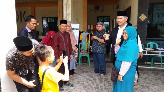 Walikota Jambi, Sy Fasha, menghadiri undangan acara Halal Bihalal yang digelar DPD PKS Kota Jambi, Minggu (16/6).