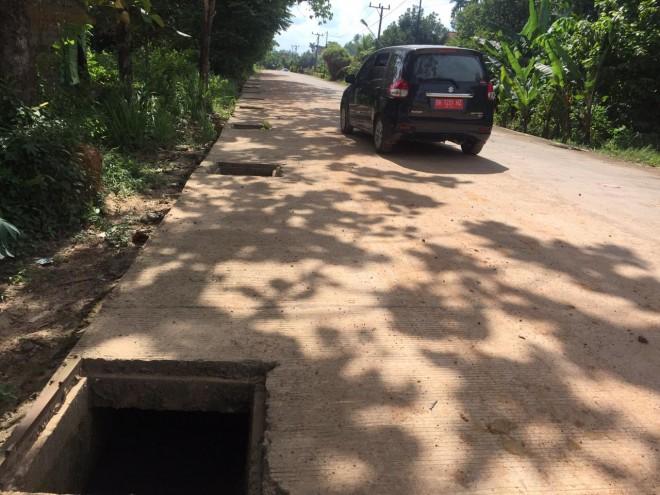 Puluhan Penutup Drainase di Kota Jambi Hilang Dicuri. Foto : Ist